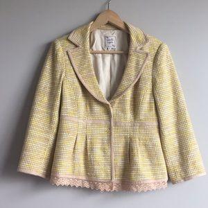 Nanette Lepore tweed & lace blazer